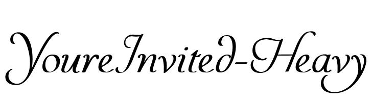 YoureInvited-Heavy  Скачать бесплатные шрифты