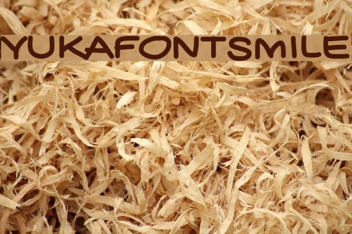 YUKAFONTSMILE Font examples