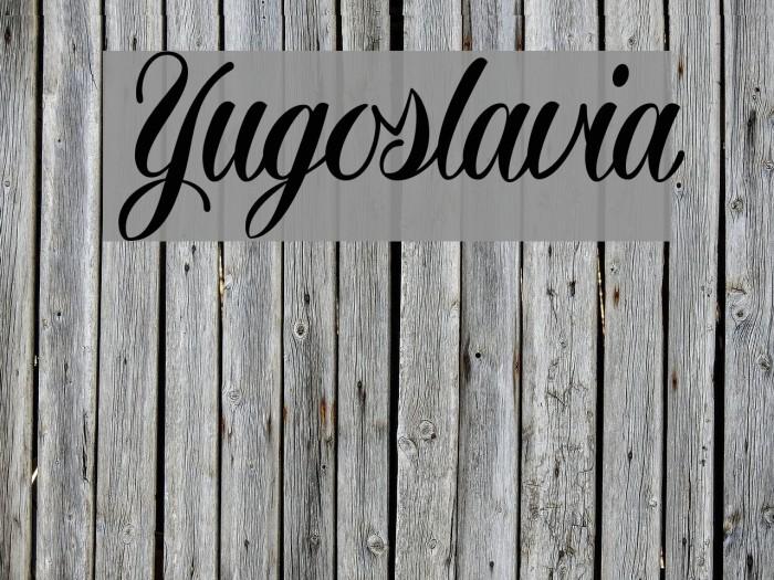 Yugoslavia Font examples