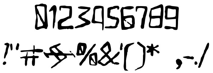 Yugurian フォント その他の文字