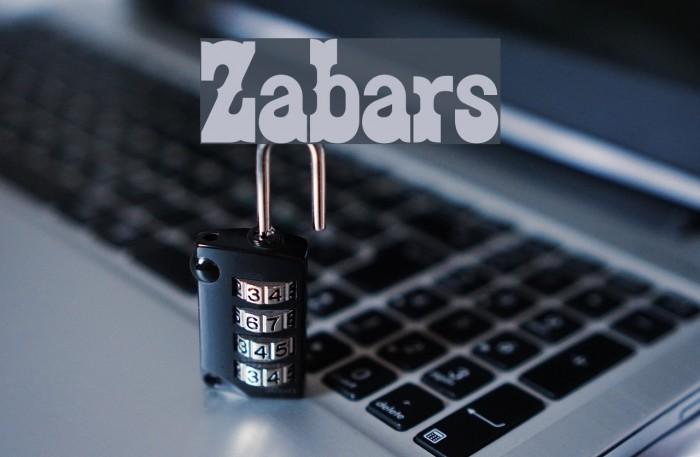 Zabars फ़ॉन्ट examples