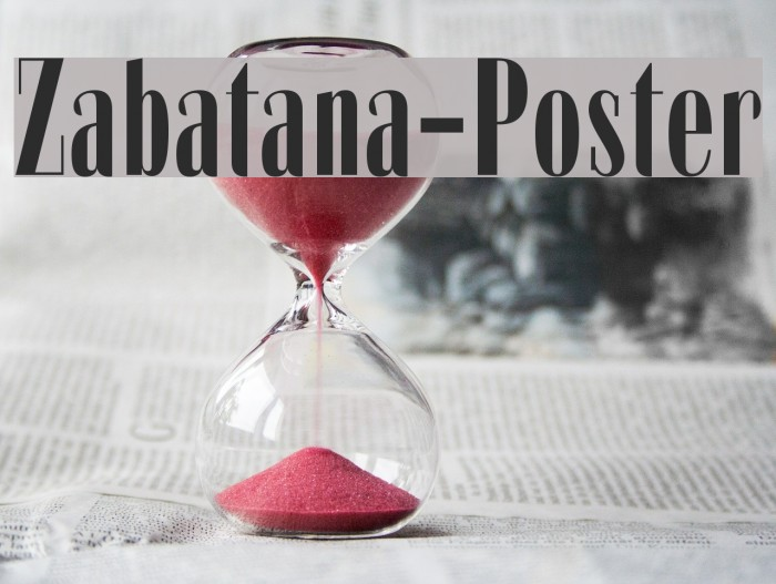 Zabatana-Poster Font examples