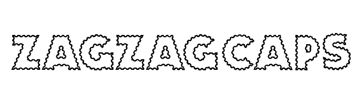 ZagzagCaps  नि: शुल्क फ़ॉन्ट्स डाउनलोड