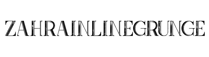 Zahra Inline Grunge  नि: शुल्क फ़ॉन्ट्स डाउनलोड