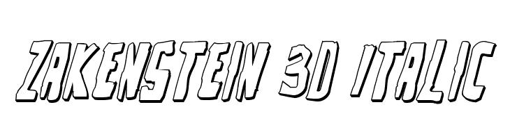 Zakenstein 3D Italic  Fuentes Gratis Descargar