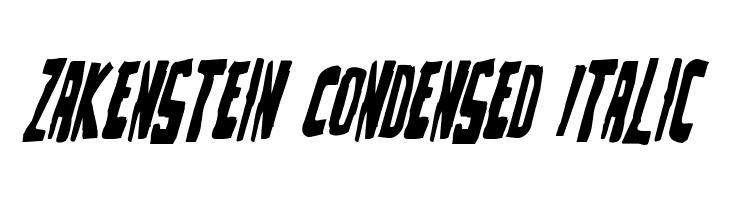 Zakenstein Condensed Italic  Fuentes Gratis Descargar