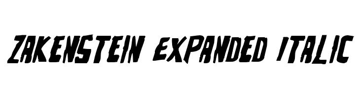 Zakenstein Expanded Italic  Fuentes Gratis Descargar