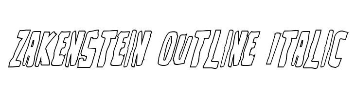 Zakenstein Outline Italic  Fuentes Gratis Descargar