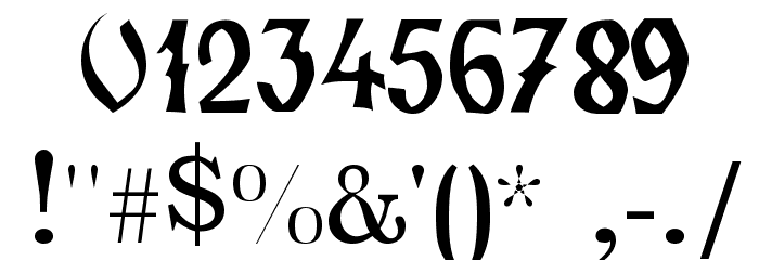 Zamolxis II Font OTHER CHARS