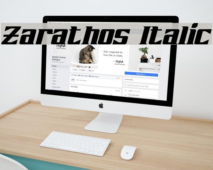Zarathos Italic Font examples