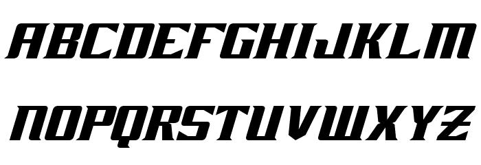 Zarathos Oblique Font UPPERCASE