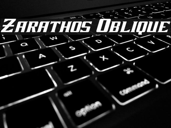 Zarathos Oblique Font examples