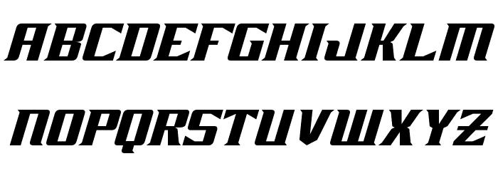 Zarathos Oblique Font LOWERCASE