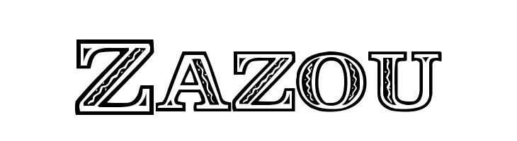 Zazou फ़ॉन्ट