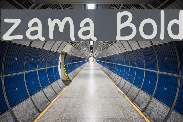zama Bold Font examples