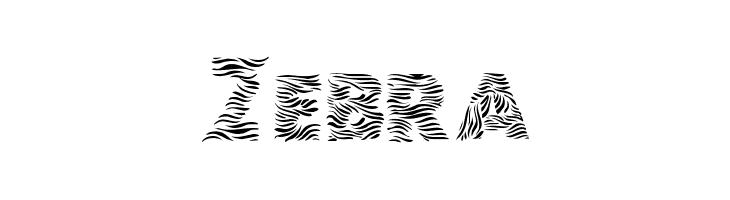Zebra  フリーフォントのダウンロード