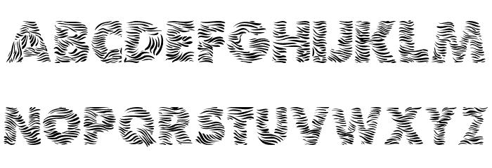 Zebra Шрифта ВЕРХНИЙ