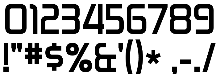 Zekton Bold Font OTHER CHARS
