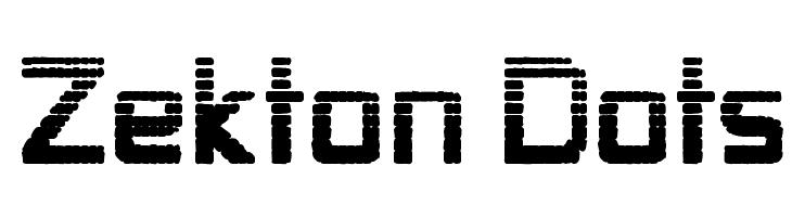 Zekton Dots  Free Fonts Download