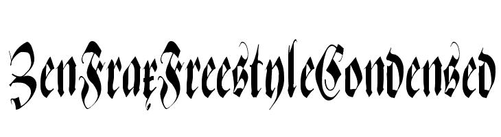 ZenFraxFreestyleCondensed  Frei Schriftart Herunterladen