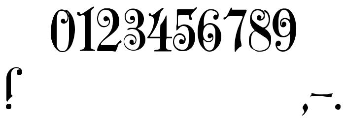 Zenda Font OTHER CHARS