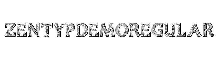 Zentyp Demo Regular Fonte