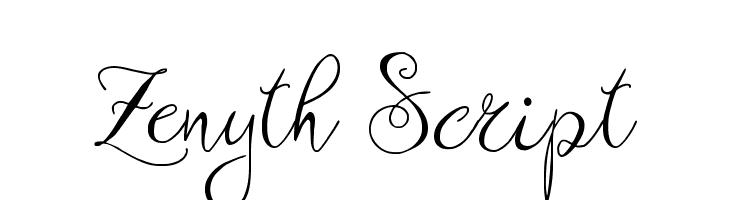 Zenyth Script  नि: शुल्क फ़ॉन्ट्स डाउनलोड