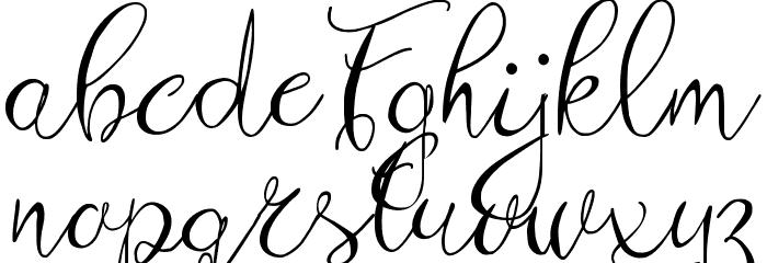 Zenyth Script Schriftart Kleinbuchstaben