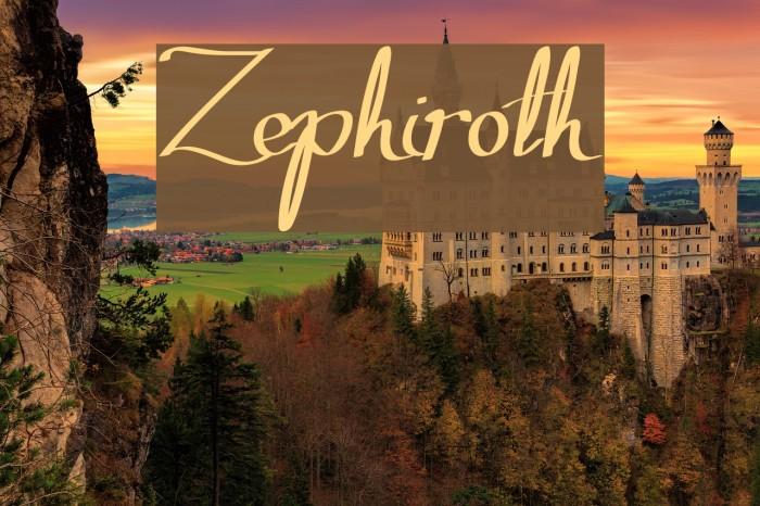 Zephiroth لخطوط تنزيل examples