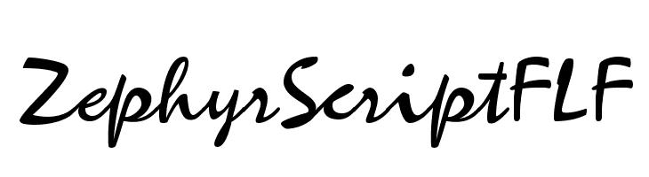 ZephyrScriptFLF  Free Fonts Download