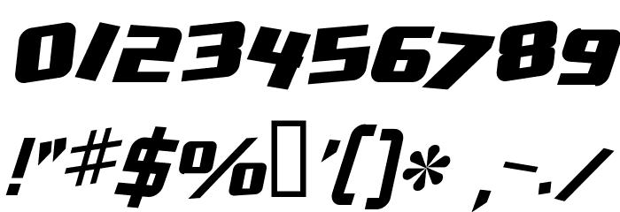 Zero Gravity Extended Italic Schriftart Anderer Schreiben