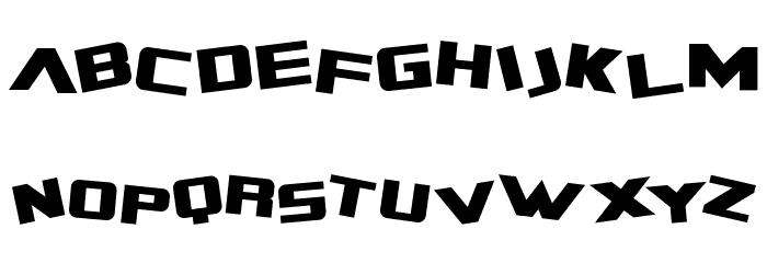 Zero Gravity Extended Font UPPERCASE