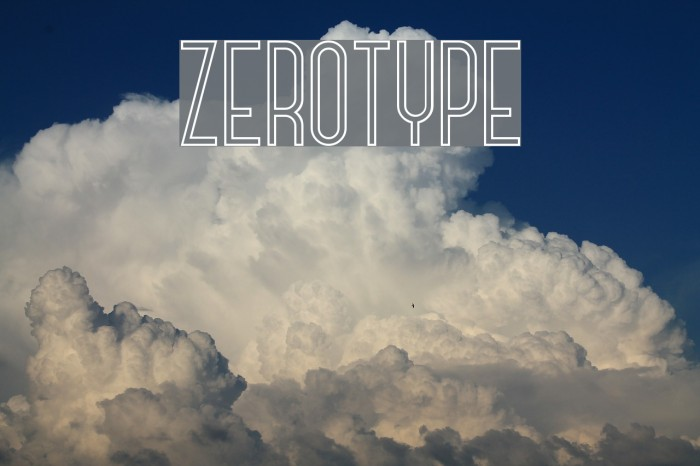 Zerotype フォント examples