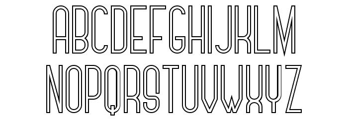 Zerotype Schriftart Kleinbuchstaben