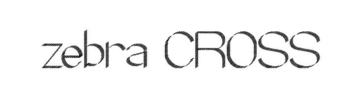 zebra CROSS  नि: शुल्क फ़ॉन्ट्स डाउनलोड