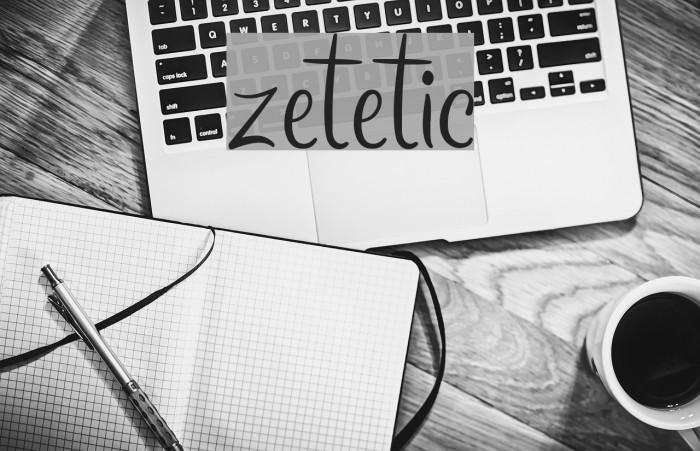 zetetic फ़ॉन्ट examples