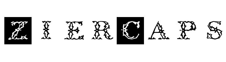 ZierCaps  免费字体下载