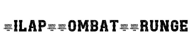 Zilap Combat Grunge  Скачать бесплатные шрифты