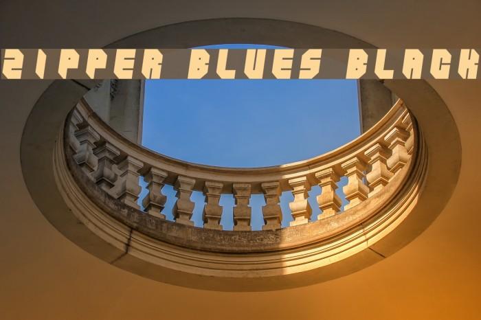 Zipper blues Black फ़ॉन्ट examples