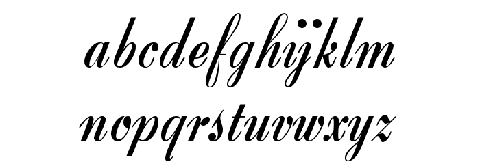 Zirkon Шрифта строчной