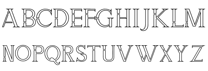 ZORGEOUS INLINE Font LOWERCASE