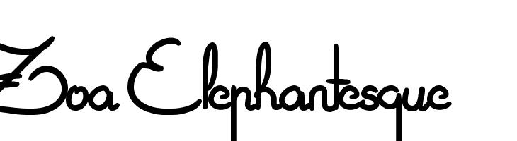 Zoa Elephantesque  Free Fonts Download