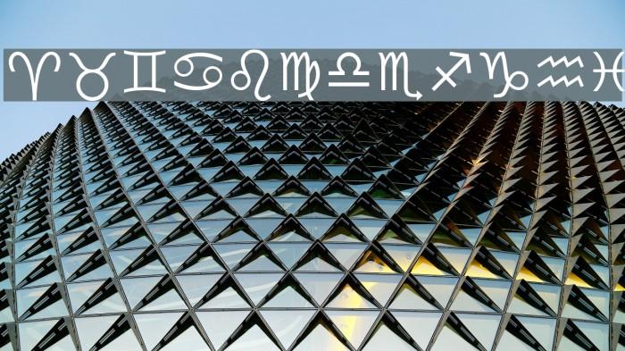 Zodiac Alphabet 字体 examples