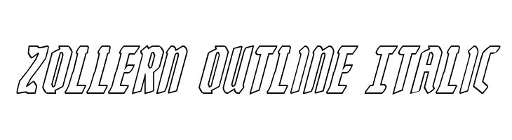 Zollern Outline Italic  नि: शुल्क फ़ॉन्ट्स डाउनलोड