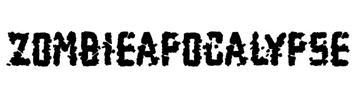 Zombie Apocalypse  Free Fonts Download