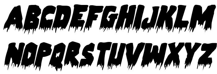 Zombie Control Italic Font UPPERCASE
