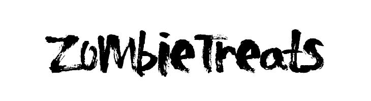 ZombieTreats  Frei Schriftart Herunterladen