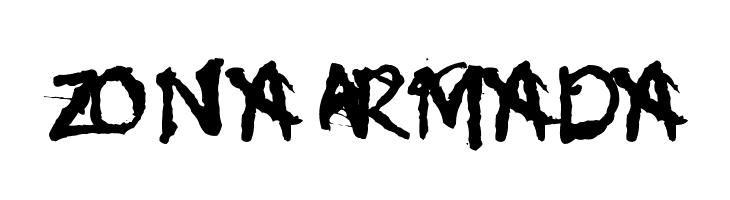 Zona Armada  フリーフォントのダウンロード