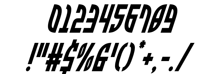 Zone Rider Condensed Italic Fonte OUTROS PERSONAGENS