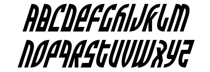 Zone Rider Condensed Italic Fonte MINÚSCULAS